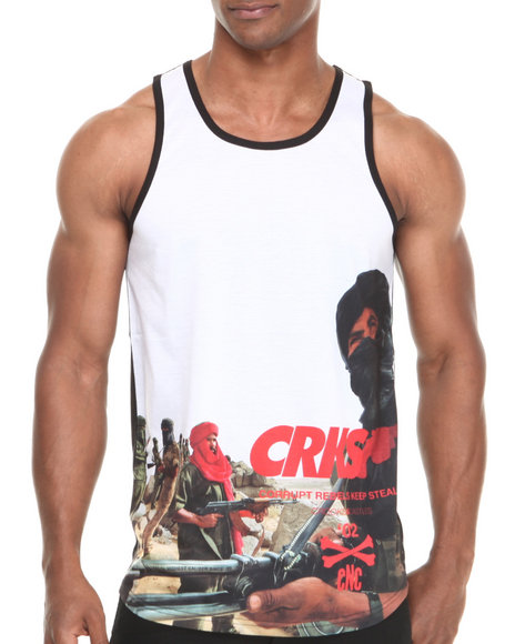 Crooks & Castles - Men Black Corrupt Tank Top
