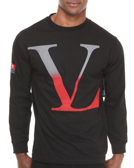 Vampire Life Black V L Gradient Logo L/S Tee