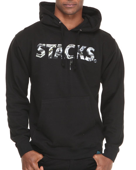 Filthy Dripped - Men Black Stacks Hoodie