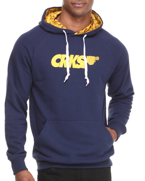 Crooks & Castles - Men Navy Gradient Pistol Hooed Pullover - $59.99