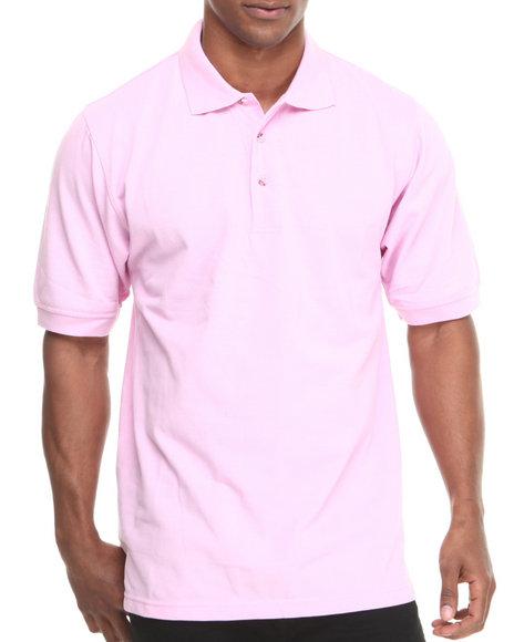 Basic Essentials - Men Pink Pique Polo