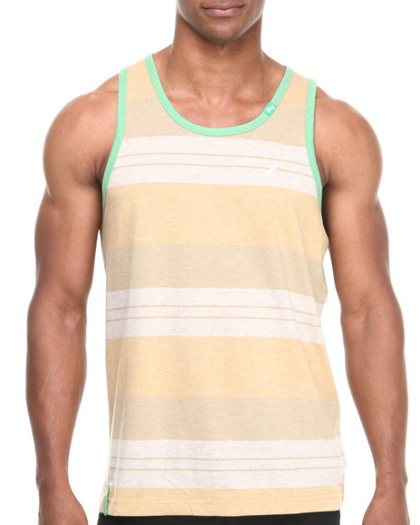 Lrg - Men Tan Stay Grounded Tank