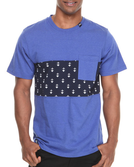 Lrg - Men Blue Uncharted Waters S/S Knit Tee