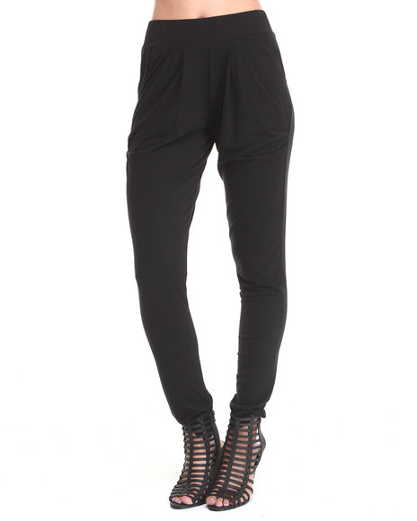 Fashion Lab - Women Black Joy Slouch Harem Pant W/ Pockets