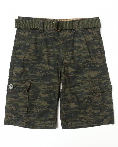 Levi's - Boys Camo Belted Huntington Cargo Shorts (8-20)