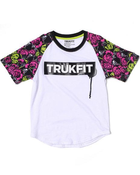 TRUKFIT Boys White Lil' Tommy Print Raglan Tee (8-20)