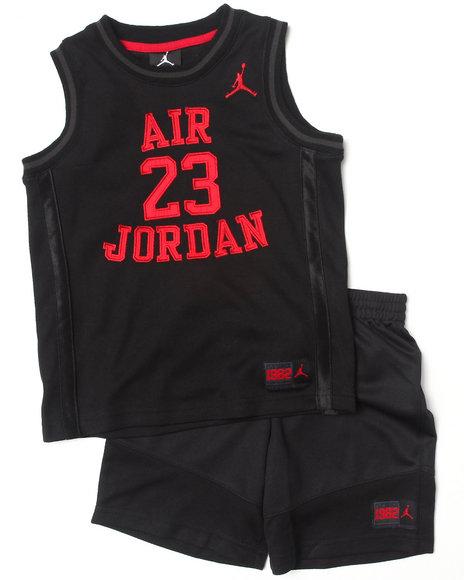 Air Jordan Boys Black Legacy Short Set (4-7)