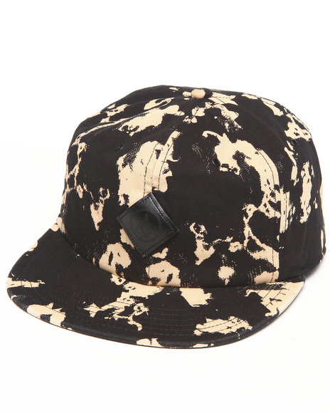 Volcom Men Queso 5 Panel Strapback Black