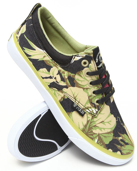 Radii Footwear - Men Green,Multi Floral Jack Sneakers