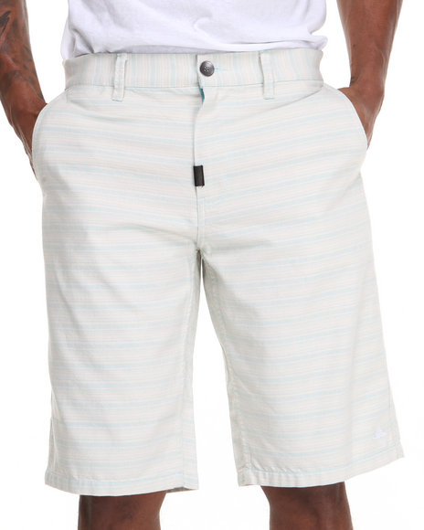 LRG - Men Light Blue High As H.E.L.L. True-Straight Shorts