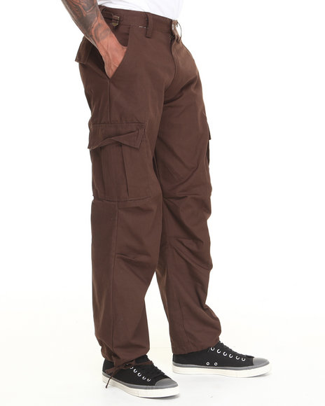 Basic Essentials - Men Brown Cargo Pants
