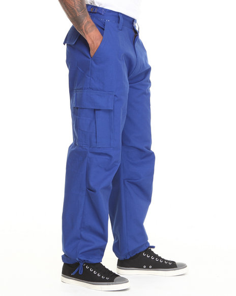 Basic Essentials - Men Blue Cargo Pants