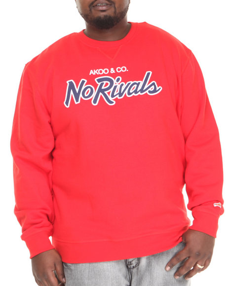 AKOO Red Bar None Crewneck Sweatshirt