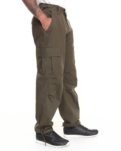 Basic Essentials - Men Olive Cargo Pants