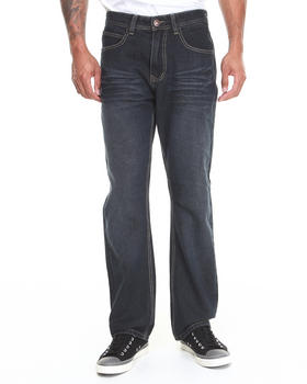 Basic Essentials - Indigo Rigid Color Over Dyed Denim Jeans