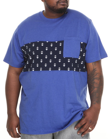 Lrg - Men Blue Uncharted Waters S/S Knit Tee (B&T)
