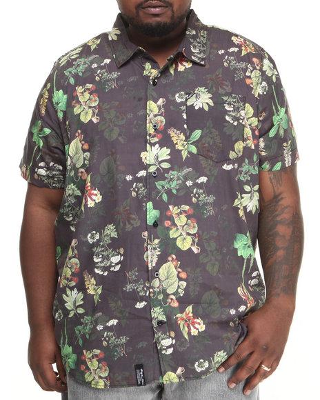 LRG Black Botanist S/S Button-Down (Big & Tall)