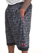Shorts - Chicago Bulls Joseph Aztec Drawstring Short (B&T)