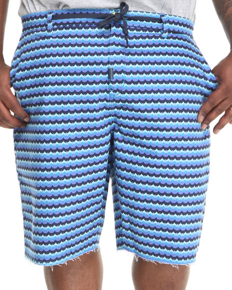 LRG - Men Navy Get Wavy Chino True-Straight Twill Shorts (B & T)