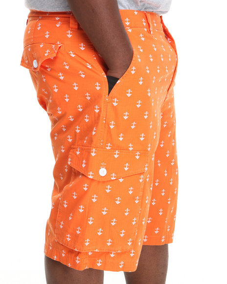 LRG - Men Orange Stay Anchored Classic Cargo Shorts (B & T)