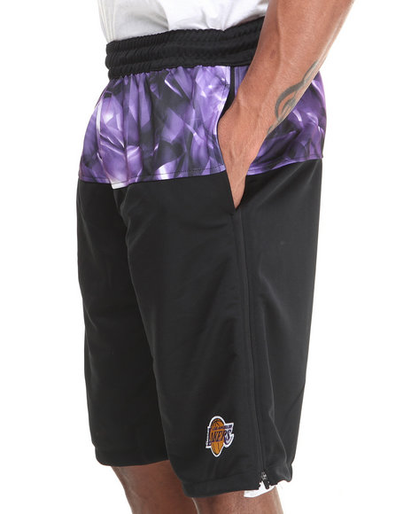 Nba, Mlb, Nfl Gear - Men Black Los Angeles Lakers Emerald Drawstring Shorts - $16.99