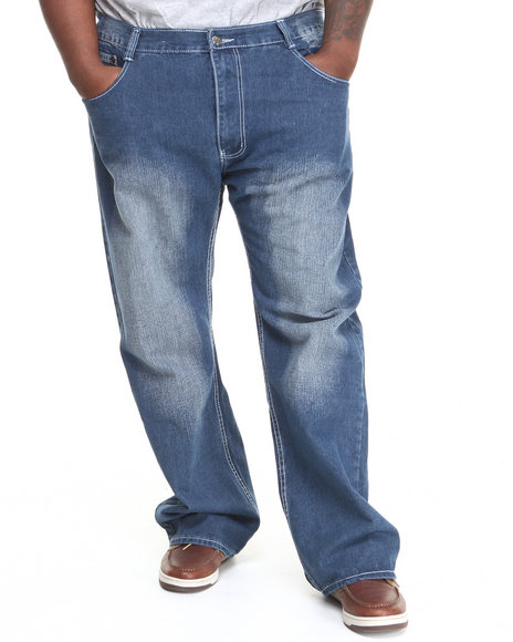Basic Essentials - Men Medium Wash Contrast Stitch Denim Jeans (B&T)