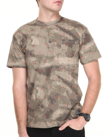 Crooks & Castles Men Killstreak T-Shirt Camo X-Large