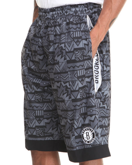 Nba, Mlb, Nfl Gear - Men Multi Brooklyn Nets Joseph Aztec Drawstring Short