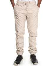 Men - Quilted faux leather Jogger
