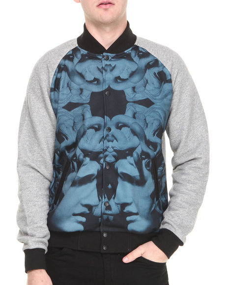 Crooks & Castles - Men Grey Hellenist Jacket