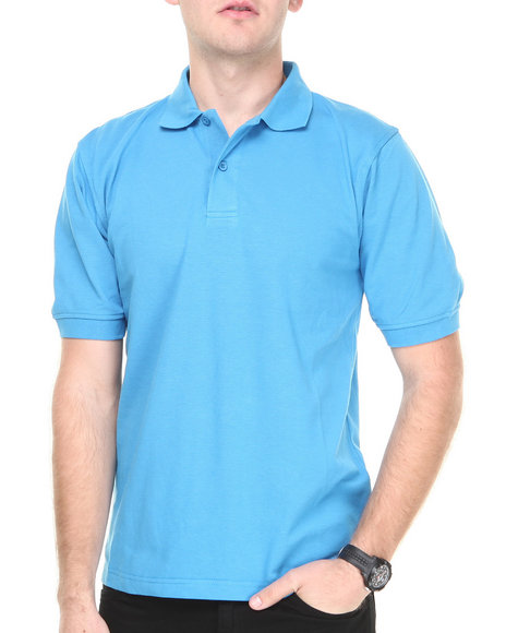 Basic Essentials - Men Teal Pique Polo