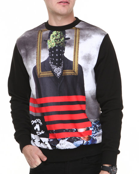 Crooks & Castles - Men Black Son Of Crooks Sweatshirt