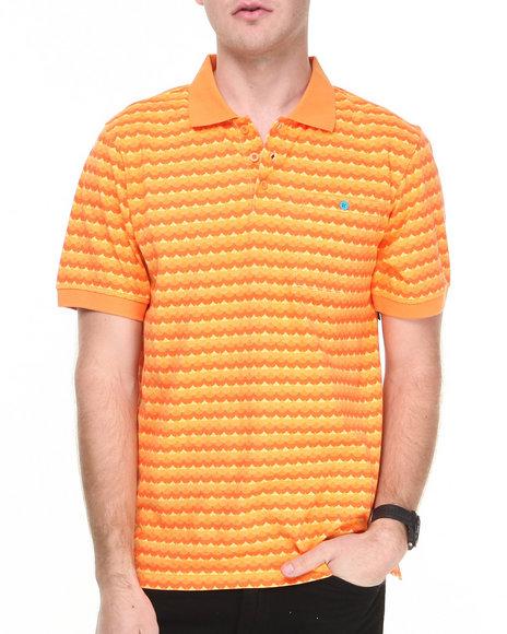 Lrg - Men Orange Get Wavy S/S Polo