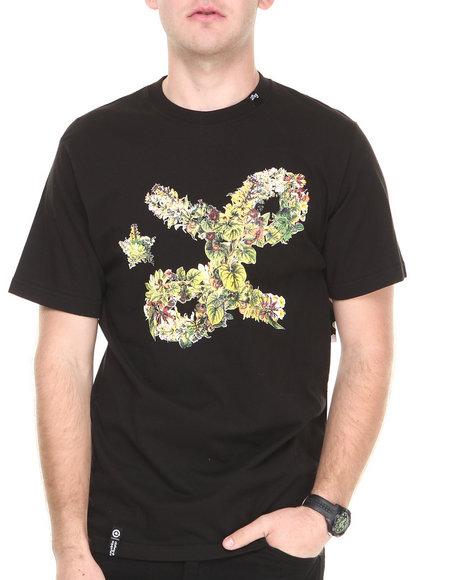 Lrg - Men Black Floral Cursive S/S Tee