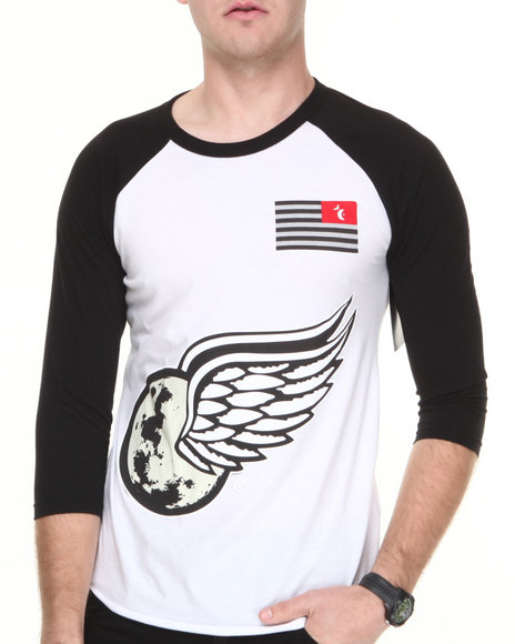 Vampire Life - Men Black V Wings Baseball Raglan