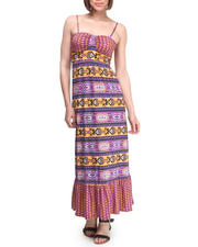 Dresses - Border Print Maxi Dress