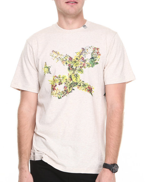 Lrg - Men Off White Floral Cursive S/S Tee
