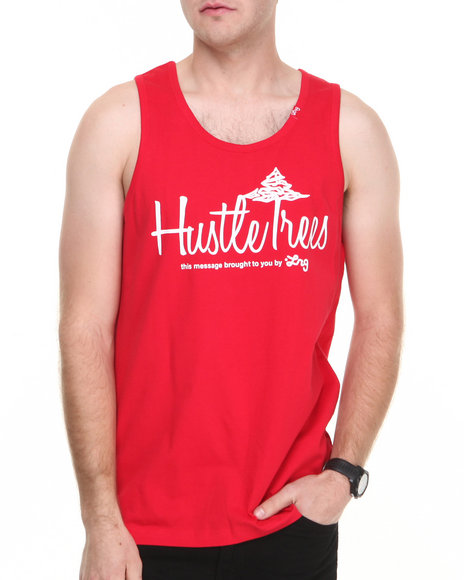 Lrg - Men Red Core Collection Hustle Trees Tank