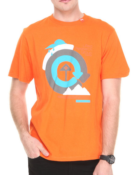 Lrg - Men Orange Cycle Of Life S/S Tee
