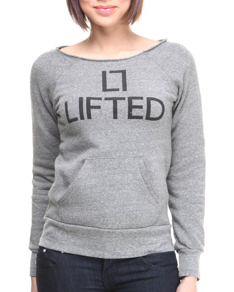 LRG - Women Grey Lifted Fleece Sweat Shirt