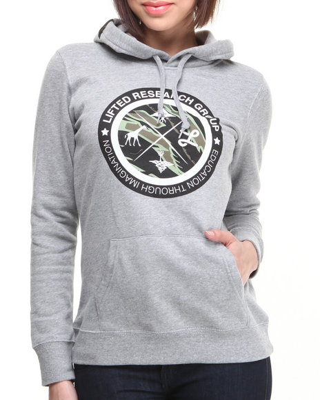 Lrg - Women Grey Lifted Hoodie
