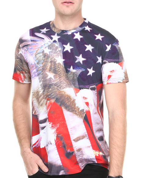 Double Needle Multi Screaming Eagle Tee
