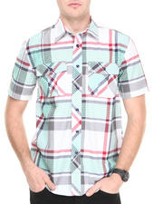 Button-downs - Brooklyn plaid S/S button down shirt