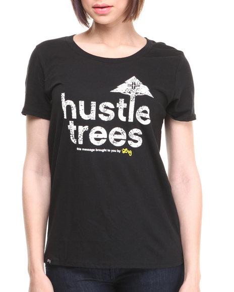 Lrg - Women Black Hustle Trees Boyfriend Tee