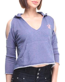 LRG - Jones Tailored Hoodie w/cold shoulder 3/4 sleeve