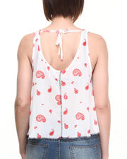 Tops - Jersey Mesh Tank  w/ Giraffe Pasely Print On back