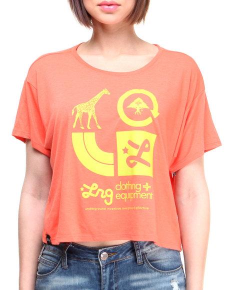 Lrg Orange Tops
