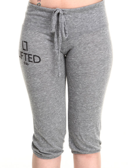 Lrg - Women Grey Lifted Cropped Pant