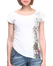 Women - Screen Print Asymmetrical Top