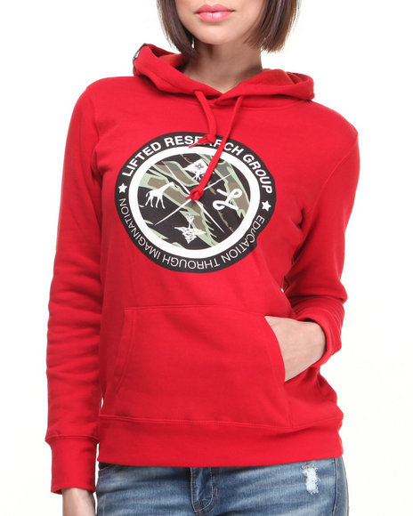Lrg - Women Red Lifted Hoodie